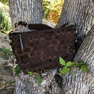 Authentic brown Coach shoulder bag